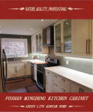 Home Furniture Wood Grain Melamine Kitchen Cabinet (ZS-394)