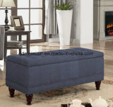 European Contracted Solid Wood Feet Storage Cloth Art Bed Tail Foot Boutique Sofa Bed KTV Receive Stool Furniture in Shoes (M-X3275)