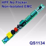 6-20W Hpf No Flicker Non-Isolated LED Tube Power Supply with EMC QS1134
