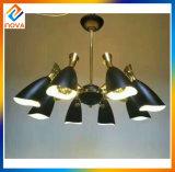 Classical Fashionable Pendant Metal Black Shade Ceiling Light Vintage Chandelier