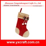 Christmas Decoration (ZY16Y170 42CM) Linen Joint Christmas Gift Christmas Storage Bag