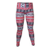 Custom Womens Printed Spandex Long Tight Pants for Fitness