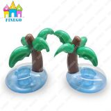 Inflatable Donut Palm Tree Pool Floats, Drink Holder, Cup Holder