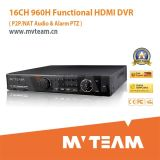 16CH 960h Digital Video Recorder H264 Stand Alone DVR System with P2p Function (MVT-62B16D)
