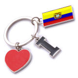 New Custom Metal Souvenir Ecuador Keyring