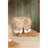Fashion Australia Sheepskin Winter Shoes Fashion Boots with Rabbit Fur Trim