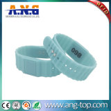 New Style Light Blue RFID UHF Wrist Band with Button