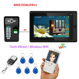 7inch Wired / Wireless WiFi Fingerprint RFID Password Video Door Phone Intercom System Support Remote APP Unlocking