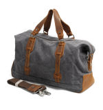 Guangdong Factory Leather Weekend Travel Bag Outdoor Sport Duffel Canvas Duffle Bag (RS-82029K)