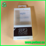 Plastic Rectangular Clear Foldable Box with Screen Printing with Hanger