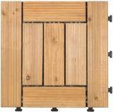 Outdoor Wood Floor with PE Base 30*30cm