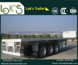 40 FT Tri Axle Container Flatbed Semi Trailer (three axles) (single tyre)