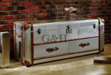 Wholesale Antique Style Aluminum Surface Wooden Chest of Drawers