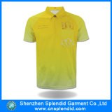 Shenzhen Wholesale Sports Wear Mens Yellow Dry Fit Polo Shirt