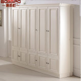 White Painting Bedroom Closet Wood Wardrobe Cabinets (GSP17-001)