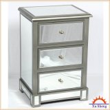 Home Furnitureclassical 3-Drawer Mirrored Wooden Chest