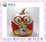 Beautiful and Colorful Plush Owl Soft Clock