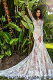 2017 New Mermaid Wedding Dress Long Sleeves Lace Bridal Gown Ya112