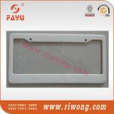 Fancy White Plastic Plate Frames for Car
