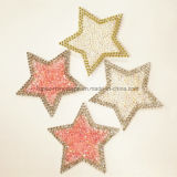 Heat Transfer Star Rhinestone Sheets Shoes Transfers Applique (TS-Star 6.5cm)