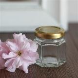 1.5oz 45ml Hexagonal Honey Glass Jars with Twist off Cap