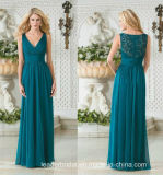 Teal Blue Prom Party Gowns A-Line Chiffon Evening Gowns Z1020