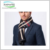 2017 Top Selling Dyed Stripe Stretch Knitted Scarf for Men