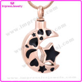Cremation Necklaces for Ashes Moon & Star Pendant Ijd9771