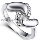 USA Hot Selling Steel Ring Footprint Baby Jewelry