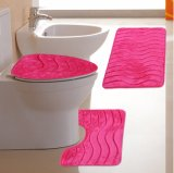 Memory Foam Three Pieces Set Anti-Slip Bathroom Mat Factory Outlet
