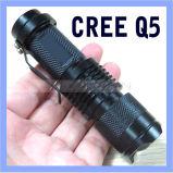 Mini LED Torch CREE Q5 LED Clip Flashlight Adjustable Focus Zoom Flash Light