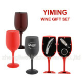 Glass Shaped Wine Gift Set (608011-B)