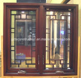New Design American Style Hand Outward Opening Wooden Window