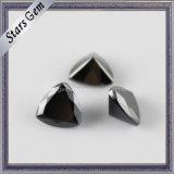 Black Trilliant Shape Synthetic Gemstone