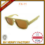 Fx-11 Eco Friendly Original Bamboo Sunglasses with Brown Lens