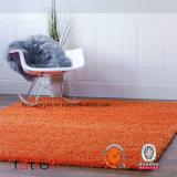 Shag Rug Living Room & Bedroom Solid Orange 5*8 Area Rug Shaggy Carpet