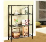 Black Epoxy Coated Metal Storage Wire Shelves, NSF Approval