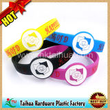 Nice Silicone Wrist Band Bracelet with Color Filled (TH-6957)