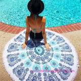 Round Printed Beach Towel with Tsaael Trims