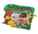 Cute Sun Design PVC Photo Frame with Rainbow and Various Animal Logo