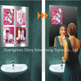 Restaurant Multimedia Magic Mirror with LED Motion Sensor Light Box