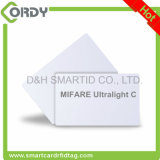 13.56MHz ISO14443A PVC White Blank Smart Card MIFARE Ultralight C Cards