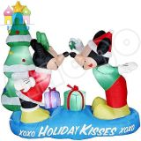 Inflatable Mickey Mouse and Christmas Tree