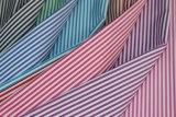 Stripes 60 Cotton 40 Polyester Twill Yarn Dyed Shirt Fabric