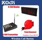 New Arrive Wireless Queue System for Restaurant with Tickets Dispenser