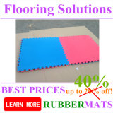 Blue Black Yellow Red Interlock EVA Flooring Mats