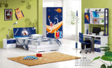 New Arrival Gloss Painting MDF Board Children Bedroom Set (9923)