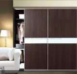 Fashion MDF Wardrobe with Aluminum Sliding Doors (SD-06)