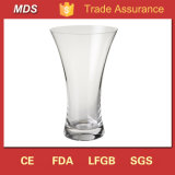 Home Decoration Fleur Clear Glass Flared Vase