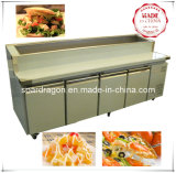 S/S Refrigeration Pizza Display Counter with 4 Solid Doors